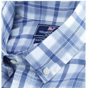 Vineyard Vines Slim Fit  Tucker Shirt,Deacon Plaid